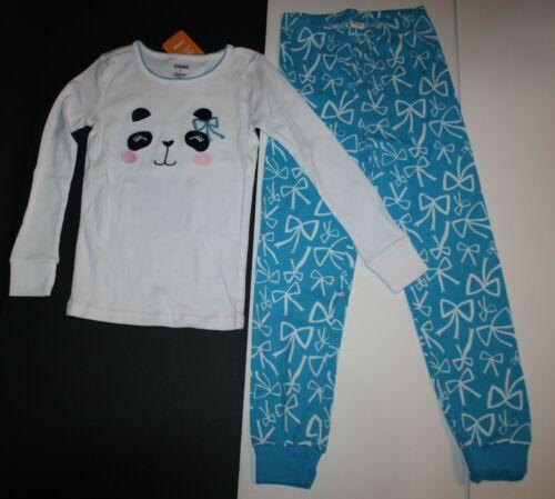 NEW Gymboree Panda Bear Face Top Bow Pajamas Gymmies PJs Size  6 7 8 10 year