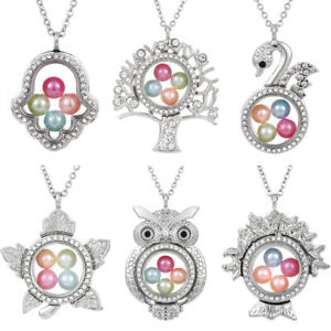 Tree-of-Life-Living-Memory-Floating-Pendant-Pearl-Cage-Glass-Locket-Necklace