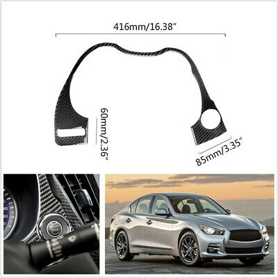 Carbon Fiber Car Interior Dashboard Frame Cover Trim For Infiniti Q50//Q60 14-19
