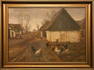 Peter-Klitz-1874-1955-CHICKEN-ALL-OVER-THE-PLACE