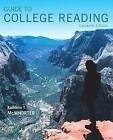 Guide to College Reading by University Kathleen T McWhorter (Paperback / softback, 2016)