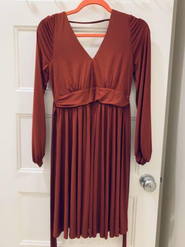 ASOS Maternity Wine Red Pleated Skirt Midi Dress