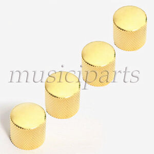 4-Pcs-Guitar-Dome-Knob-for-Bass-Guitar-Parts-Replacement-Gold-Metal