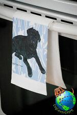 Pug Kitchen Hand Towel Black