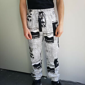 Sale Forever 21 New Stylish Men S Printed Joggers Pants Trousers Size S 36 Uk Ebay