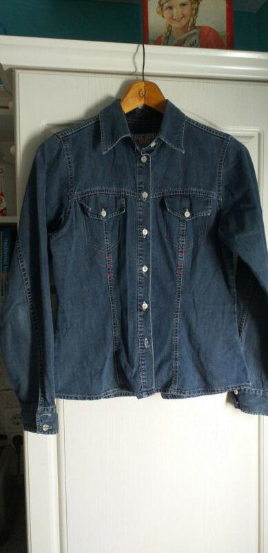 Begeistert Damen Jeanshemd, Mustang, Tailliert,blau,36/38,top Zustand! Eine GroßE Auswahl An Waren