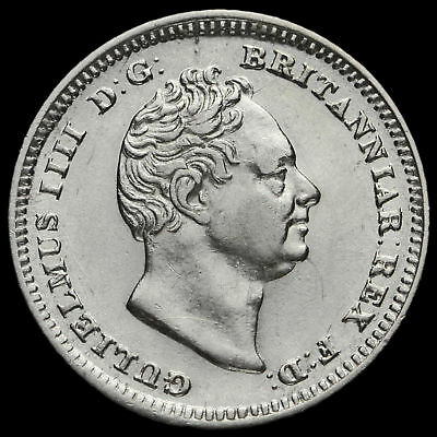 1837 William IV Milled Silver Fourpence / Groat, GVF