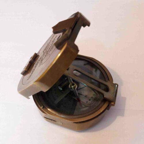 Antique Brass Brunton Compass Maritime Collectible Gift Item