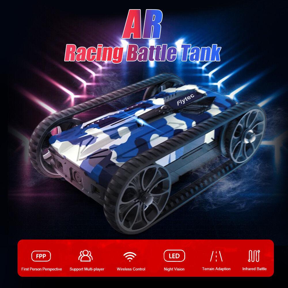 Flytec battaglia da corsa RC AR SERBATOIO multiplayer Research Institute osato LED IN LEGA PER AUTO telecomando giocattolo