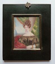 Miniatur Portrait, des Miss Sarah Miles, Gouache, Datiert Tottenham1832
