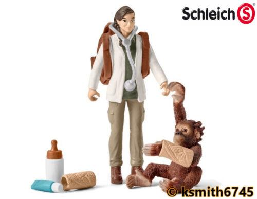 Schleich Vet au travail Jouet en plastique zoo animal ORANG-OUTANG Jungle Singe nouveau