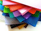 Mini Polka Dot Patterned Acrylic Felt Sheet 30cm x 30cm - 19 colours available