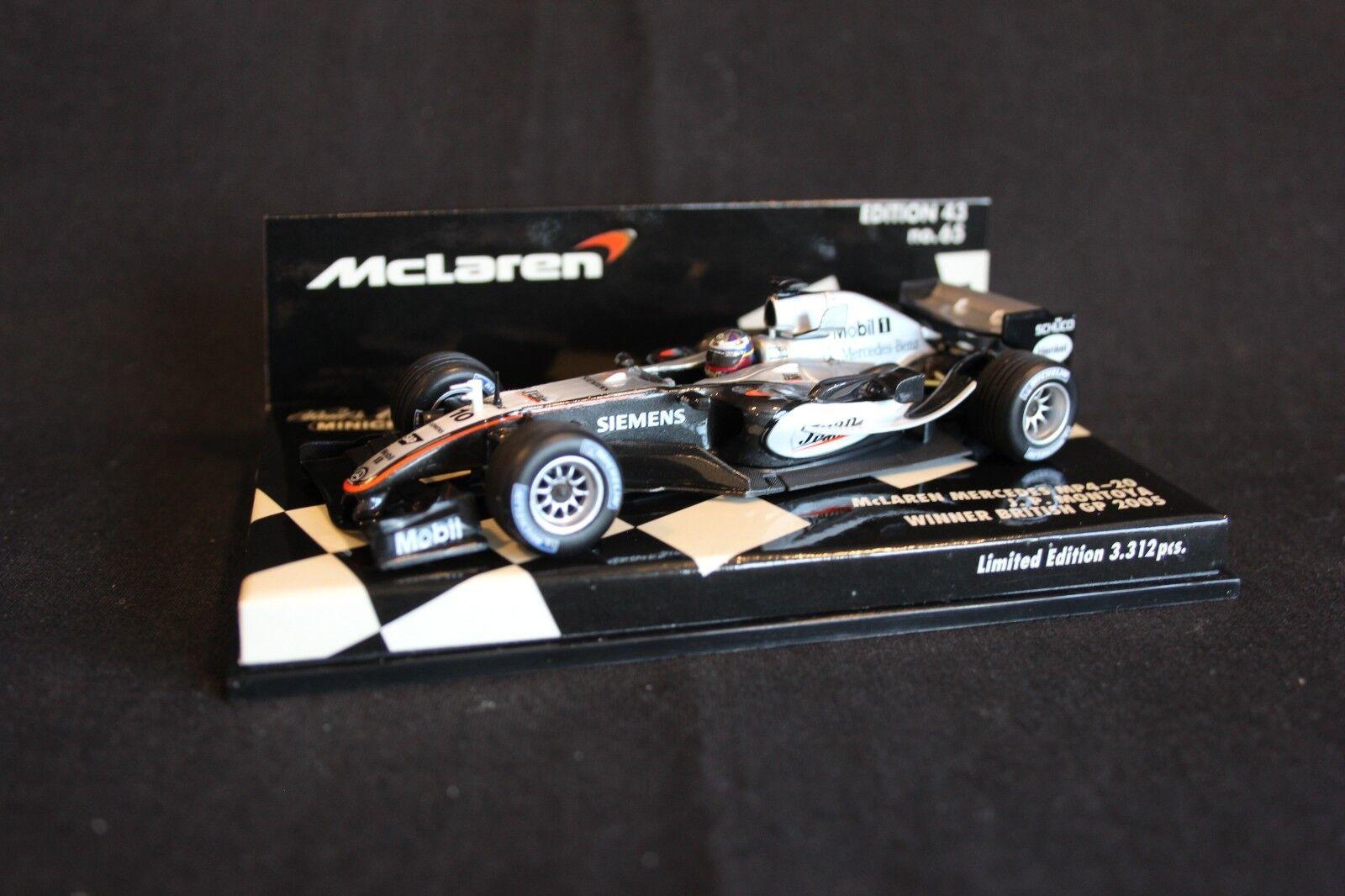 fino al 70% di sconto Minichamps McLaren Mercedes MP4-20 2005 2005 2005 1 43  10 Juan Pablo Mongiocattoloa (COL) GP UK  rivenditori online
