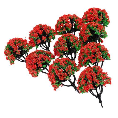 200 Train Railroad paysage modèle arbres échelle HO avec fleurs 10pc 1