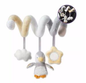 NUBY Penguin activité spirale Jouet pour Landau Chaise haute bébé peluche Siège Voiture Jouet