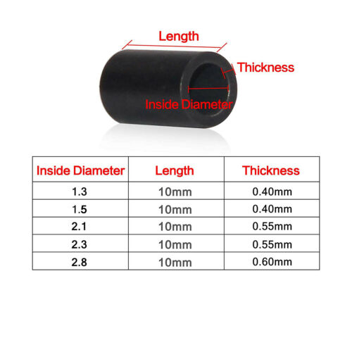 500pcs Single Barrel Crimp Sleeves Brass Tube Fishing Line Connector 1.3mm-2.8mm