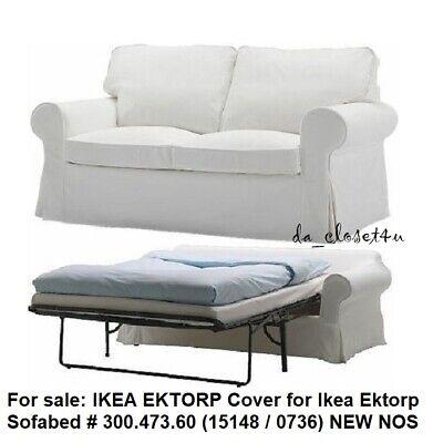 Ikea Cover For Ikea Ektorp Sofabed Blekinge White 2 Seat Sofa Bed Slipcover Nos Ebay