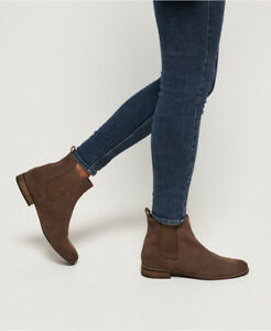 Superdry-Womens-Millie-Lou-Suede-Chelsea-Boots