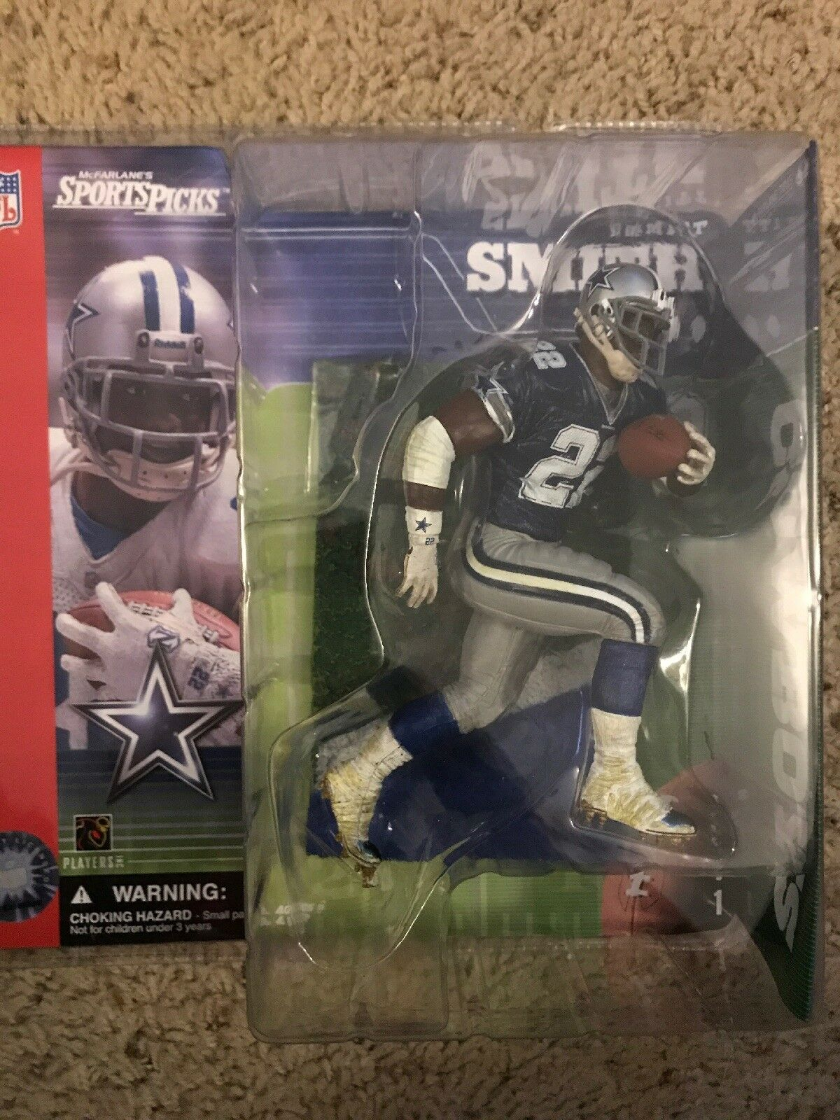 MCFARLANE NFL EMMITT SMITH CHASE VARIANT blueE jERSEY WITH STARS DALLAS COWBOYS