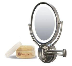 Zadro Lighted Oval Wall Mounted Makeup Mirror Cuccio Milk