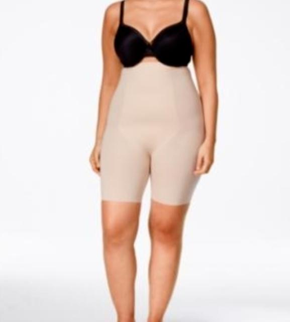 Spanx 10006R Women Thinstincts High Waist MidThigh Short Size XL Soft Nude