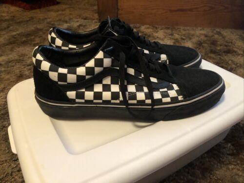 Black/White Checkered Vans Mens Size 10.5