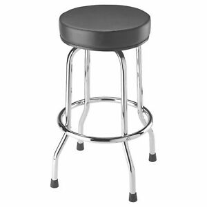 Torin Big Red 360 Degree Swivel Garage Shop Padded Bar Stool Cushion Seat, Black