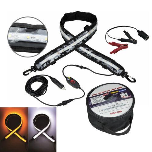 """White LED Motor Homes Camping Boat Tent Light Bar Strip 47.2/"""" 12V IP67 Amber"""