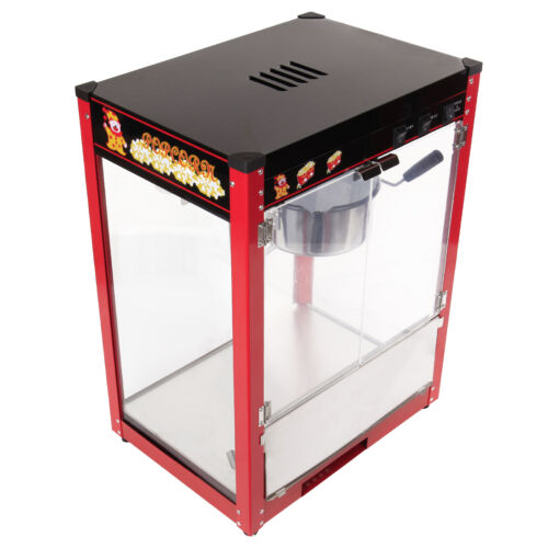 1370W Machine à Pop-corn Pro 8OZ Popcorn Appareil Inox Hôtellerie DIY EU PLUG