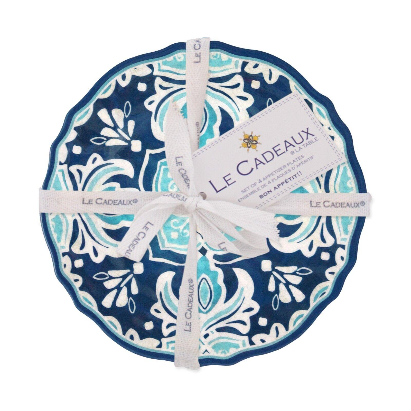 NEW Le Cadeaux Havana 4PC Melamine Appetizer Plate Set - Gift Giving