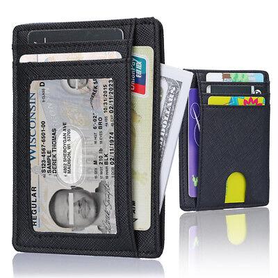 Slim Wallet RFID Front Pocket Wallet Minimalist Secure Thin Credit Card Holder