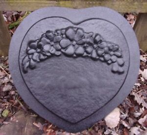 Gostatue MOLD  3 heart design new plaster concrete  plastic mold mould