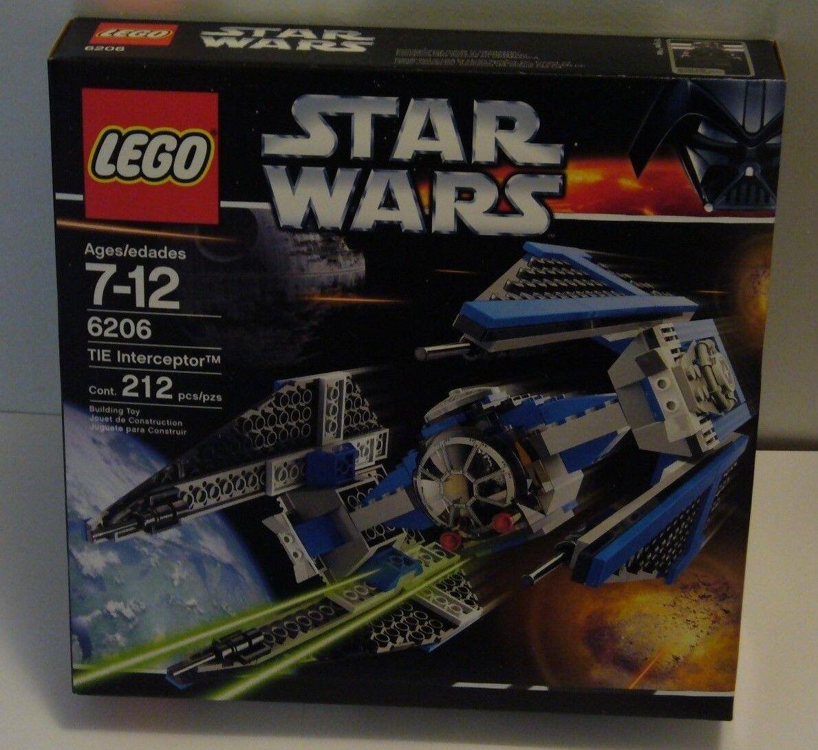LEGO Star Wars Tie Interceptor Set 6206 Sealed Nuovo TIE Pilot Minifig