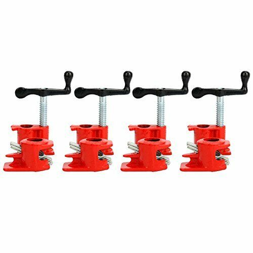 """3//4/"""" Wood Gluing Pipe Clamp Set Heavy Duty PRO Woodworking Cast Iron 4 Pack"""