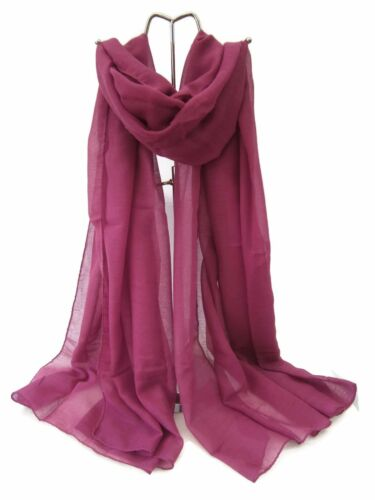 Ladies Plain Pashmina Scarf Wrap Wine//Pink//Green//Blue//Light Purple