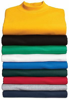 Other Golf Clothing Spirited New Port & Company By Hanes Men's 100% Cotton Mock Turtleneck S-4xl Pc61m Low Price