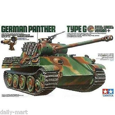 Tamiya 1/35 35174 German Panther Type G Steel Wheel Version Model Kit