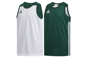 Details about adidas 3G Speed Reversible Jersey Kids White Green Basketball Sport Shirt DY6618