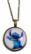 Disney's Lilo & Stitch STITCH Glass Domed Pendant NECKLACE