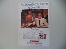 advertising Pubblicità 1990 CAFFE' KIMBO e PIPPO BAUDO