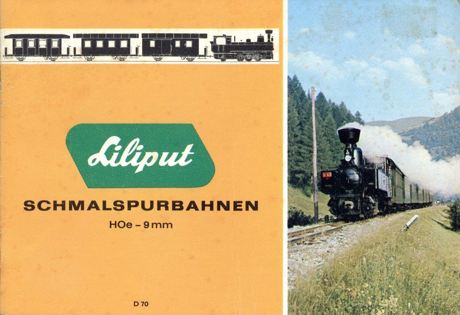Liliput Schmalspurbahnen H0e 9 mm 1970 Prospekt Modelleisenbahnprospekt brochure