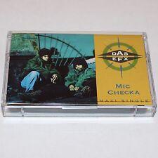 Das EFX Mic Checka Cassette Tape Maxi Single Hip Hop Rap w/ Jussummen Pete Rock