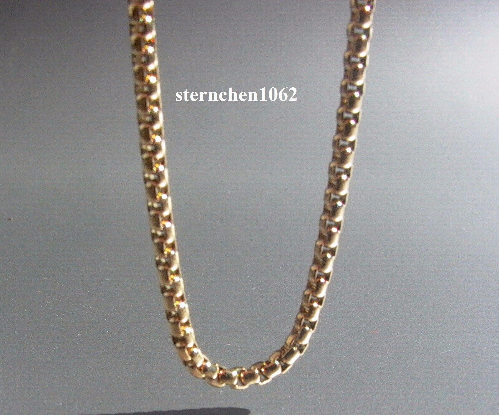 Original Traumfänger - Halskette  Stahl goldplattiert  70 cm  2 mm