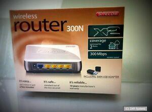 Sitecom WLK-2000 WLAN Kit DSL Router 300N X2 + WLAN Stick WiFi Adapter 300Mbit/s