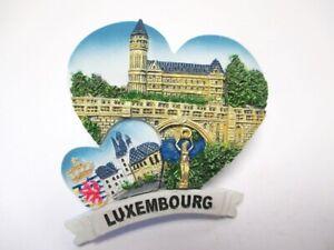 Luxemburg-Luxembourg-Cityansicht-3D-Poly-Fridge-Magnet-Souvenir-France