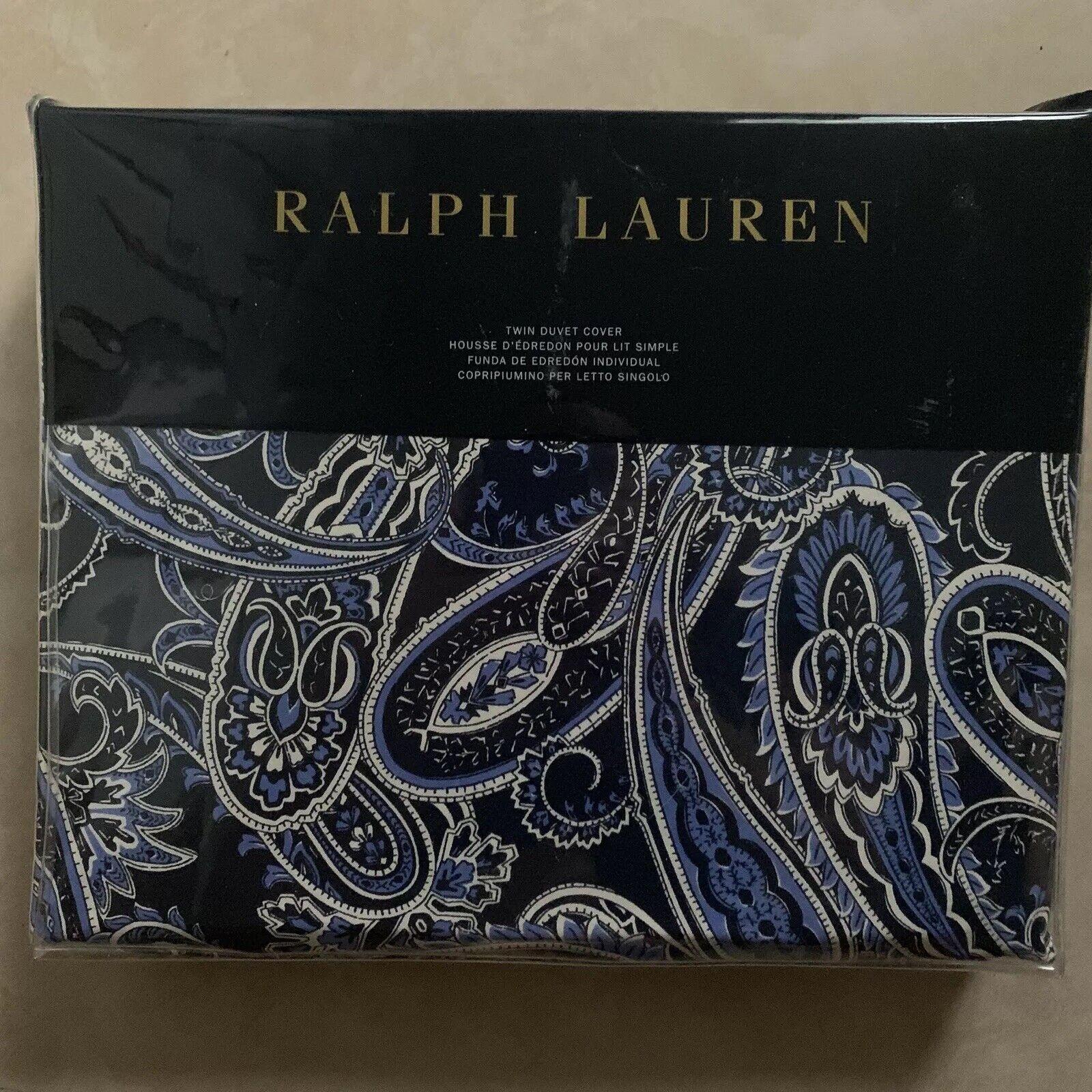 NIP Ralph Lauren Costa Azzurra Blau Paisley TWIN DUVET COVER Brand New