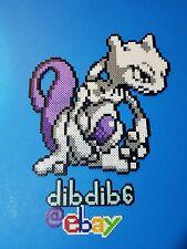Mewtwo kandi perler rave EDC PLUR Pokemon go hama wall art bead pixel sprite