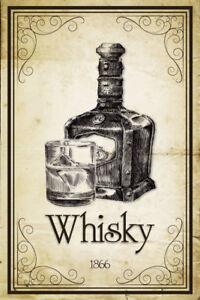 Whisky-1866-Blechschild-Metallschild-Schild-gewoelbt-Tin-Sign-20-x-30-cm-CC0280