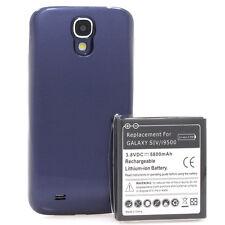 Samsung Galaxy S4 i9500 i9505 Power Akku Batterie 5800mAh Bumper Cover blau