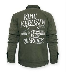 king kerosin canvas vintage lone riders jacket herren. Black Bedroom Furniture Sets. Home Design Ideas